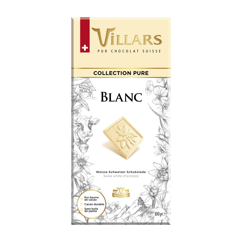 шоколад villars 72% горький 100 г Шоколад белый Villars с ванилью 100 г
