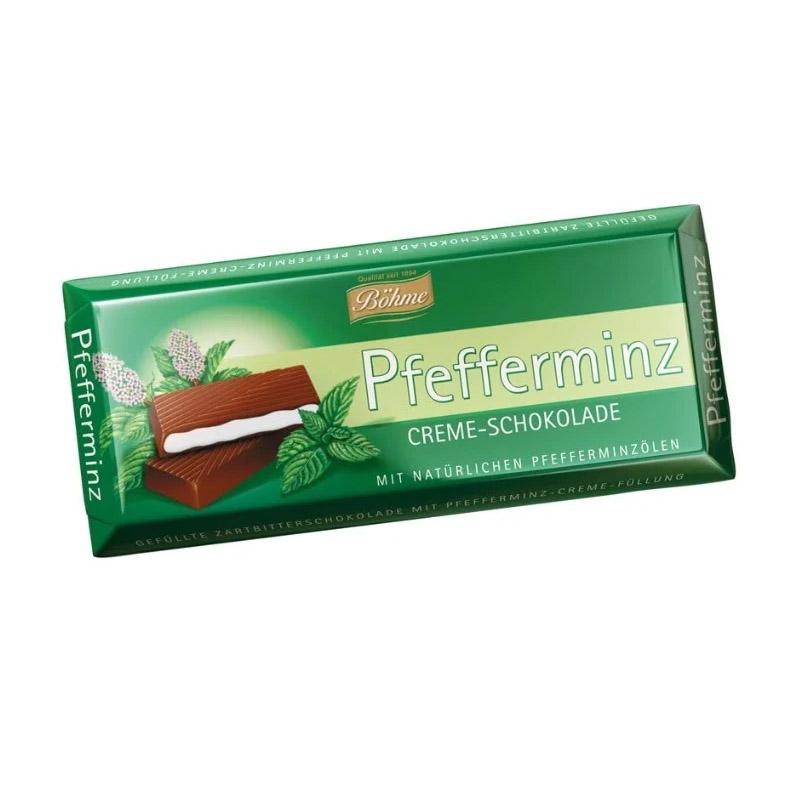 Шоколад Bohme Pfefferminz темный с мятной начинкой 100 г gernot bohme ethics in context