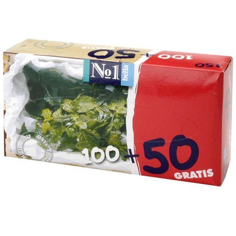Платочки Bella №1 с запахом мяты 100 шт.