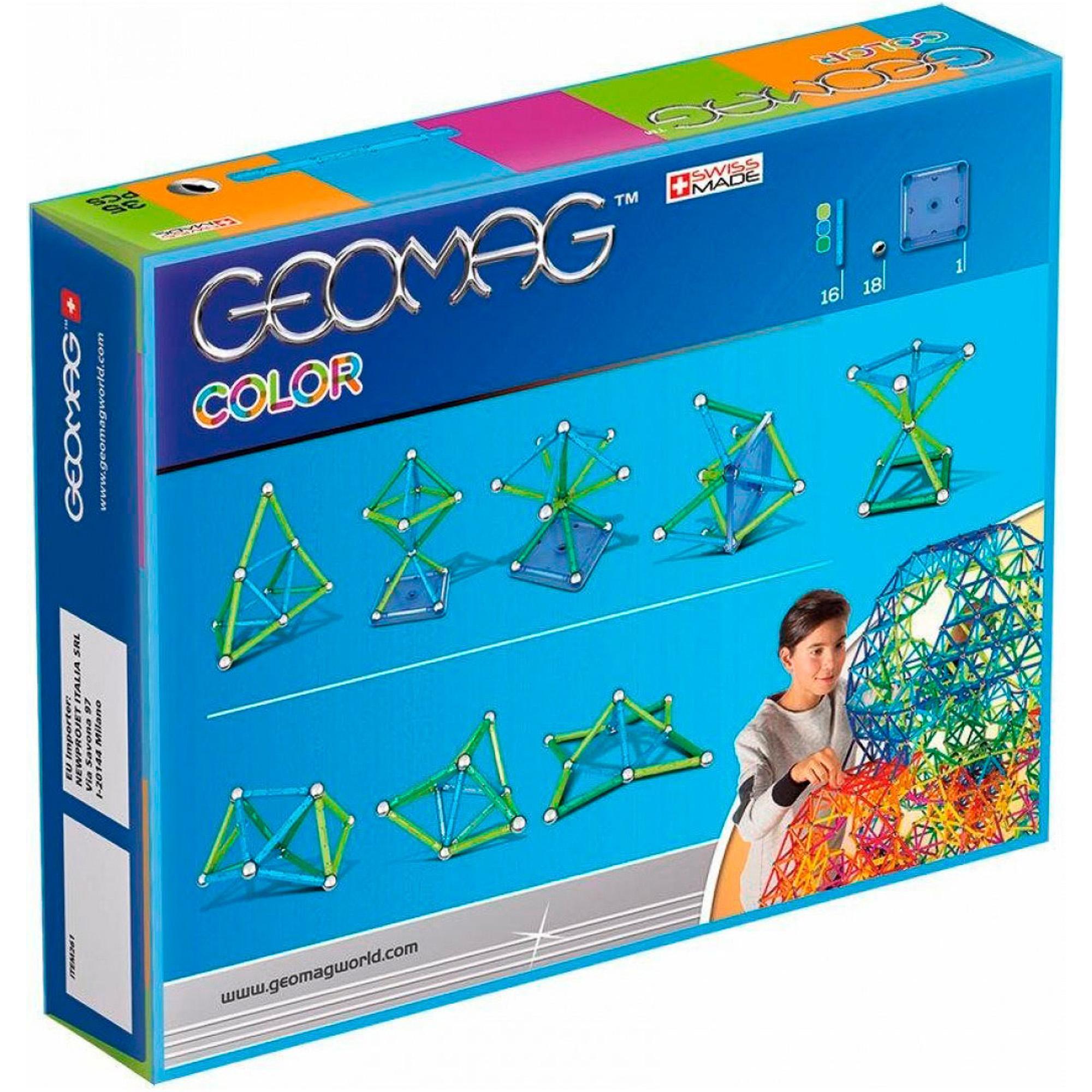 Купить Конструктор магнитный Geomag Color 261, Швейцария, пластик, металл, магнит, универсальный, Конструкторы, пазлы