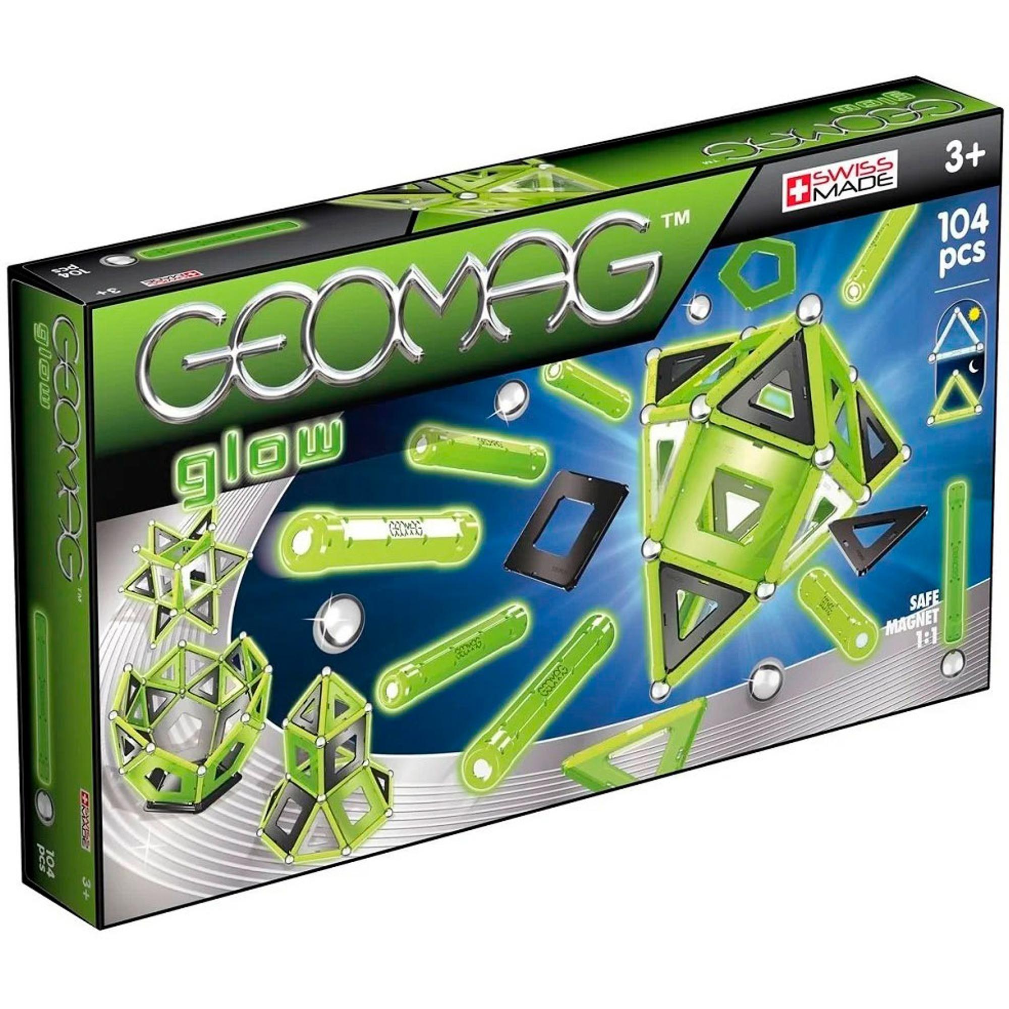 Купить Конструктор магнитный Geomag Glow 337, Швейцария, пластик, металл, магнит, универсальный, Конструкторы, пазлы
