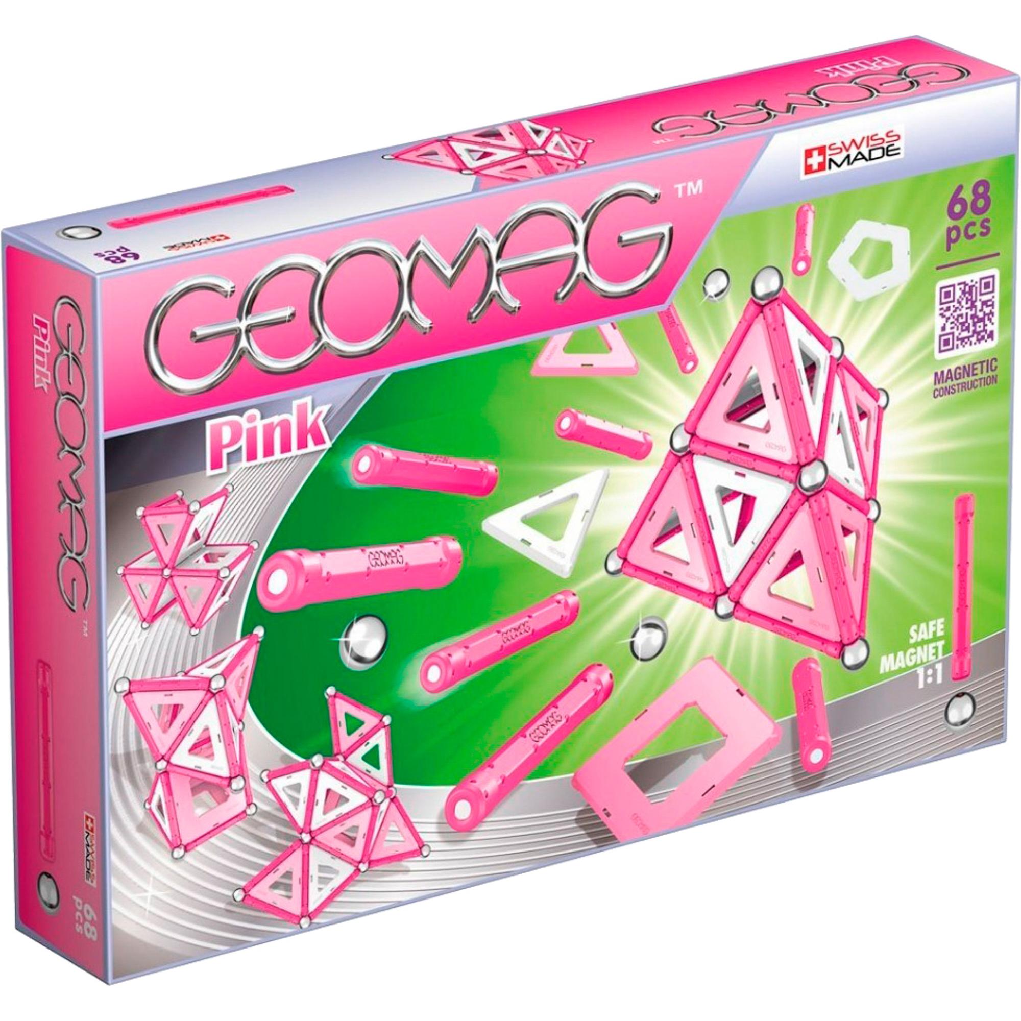 Купить Конструктор GEOMAG Pink 340, Швейцария, магнит, металл, пластик, для девочек, Конструкторы, пазлы
