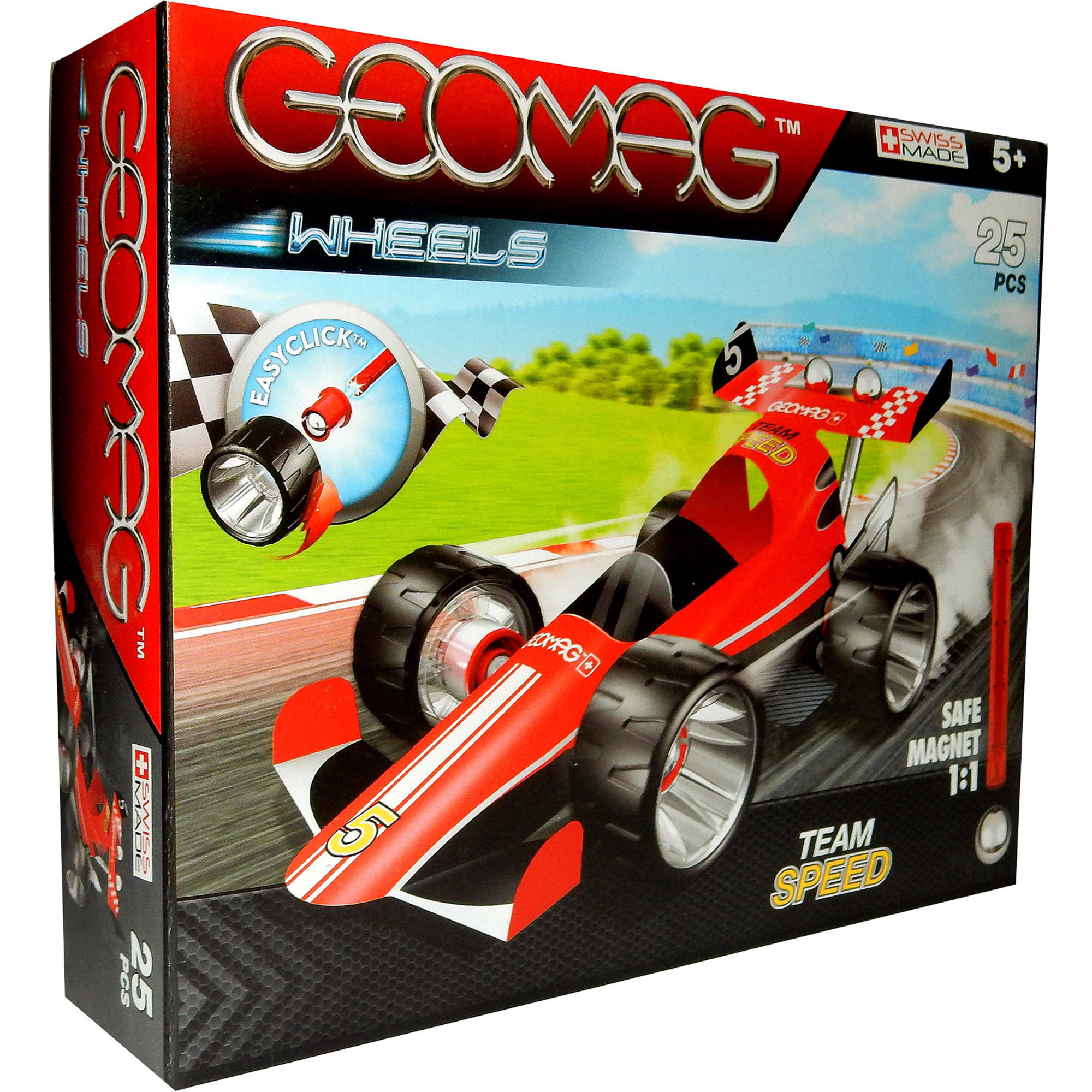 Конструктор магнитный Geomag 710 Машина гоночная красная