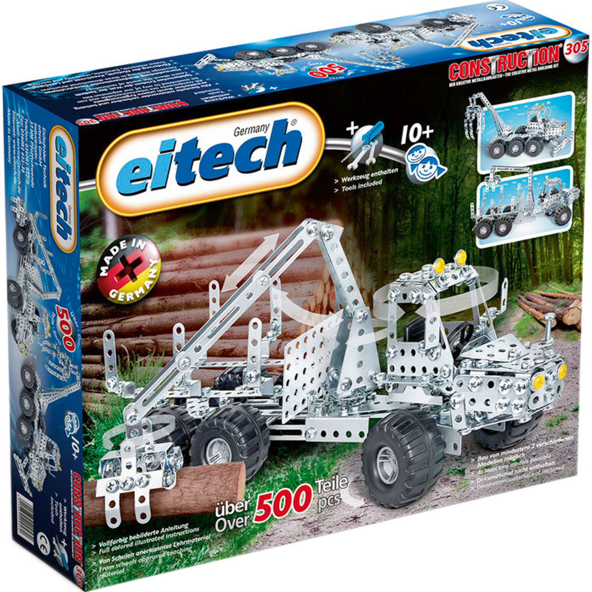 Купить Конструктор Eitech Лесовоз, Германия, металл, для мальчиков, Конструкторы, пазлы