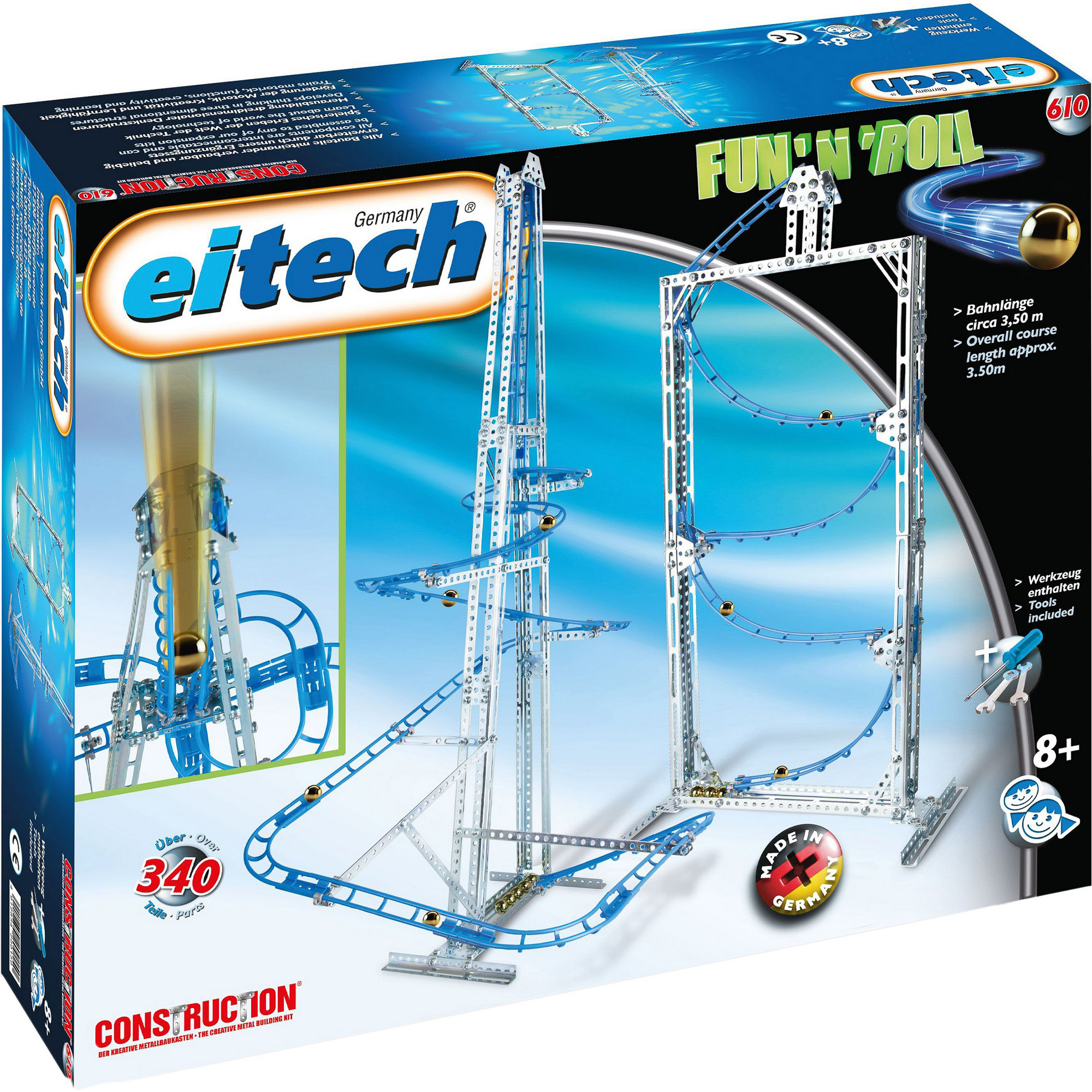 Купить Конструктор Eitech Серпантин 340, Германия, металл, универсальный, Конструкторы, пазлы
