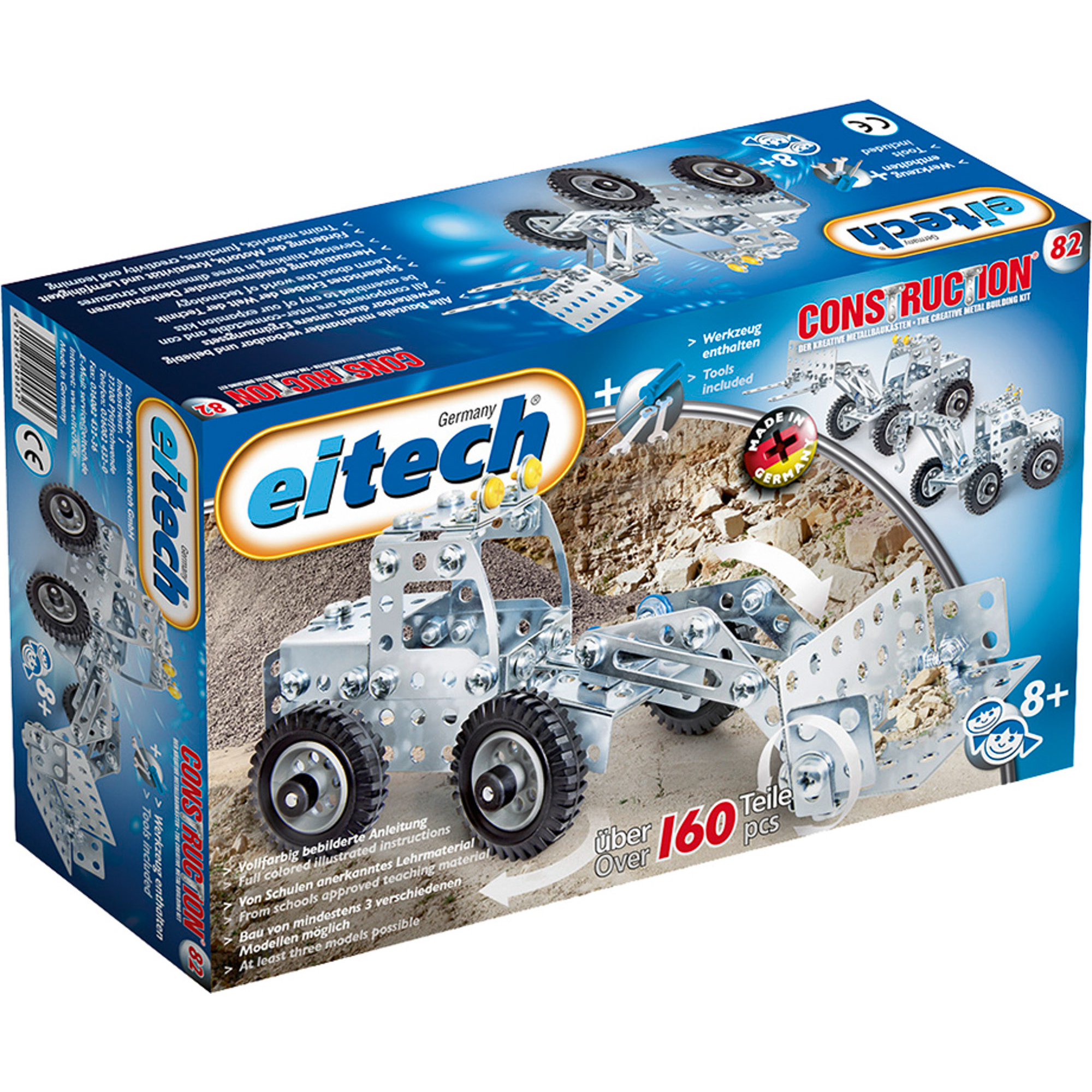 Конструктор Eitech Колесный погрузчик 82 конструктор eitech exclusive c12 космический челнок