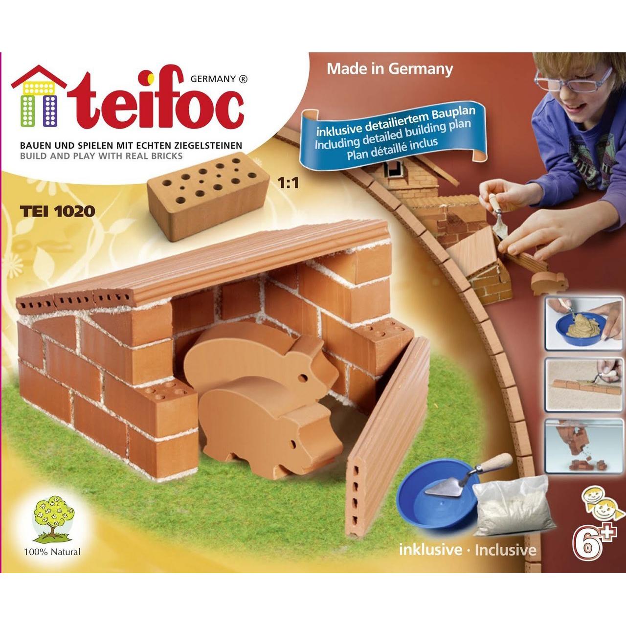 Купить Строительный набор Teifoc Свиноферма, керамика, универсальный, Конструкторы, пазлы