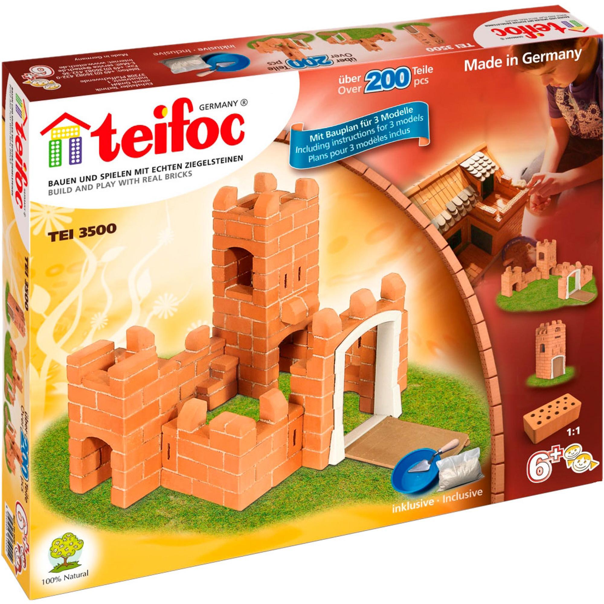 Фото - Игровой набор TEIFOC Замок TEI 3500 сборные модели teifoc дополнительный набор кирпичи смесь мастерок 280 деталей
