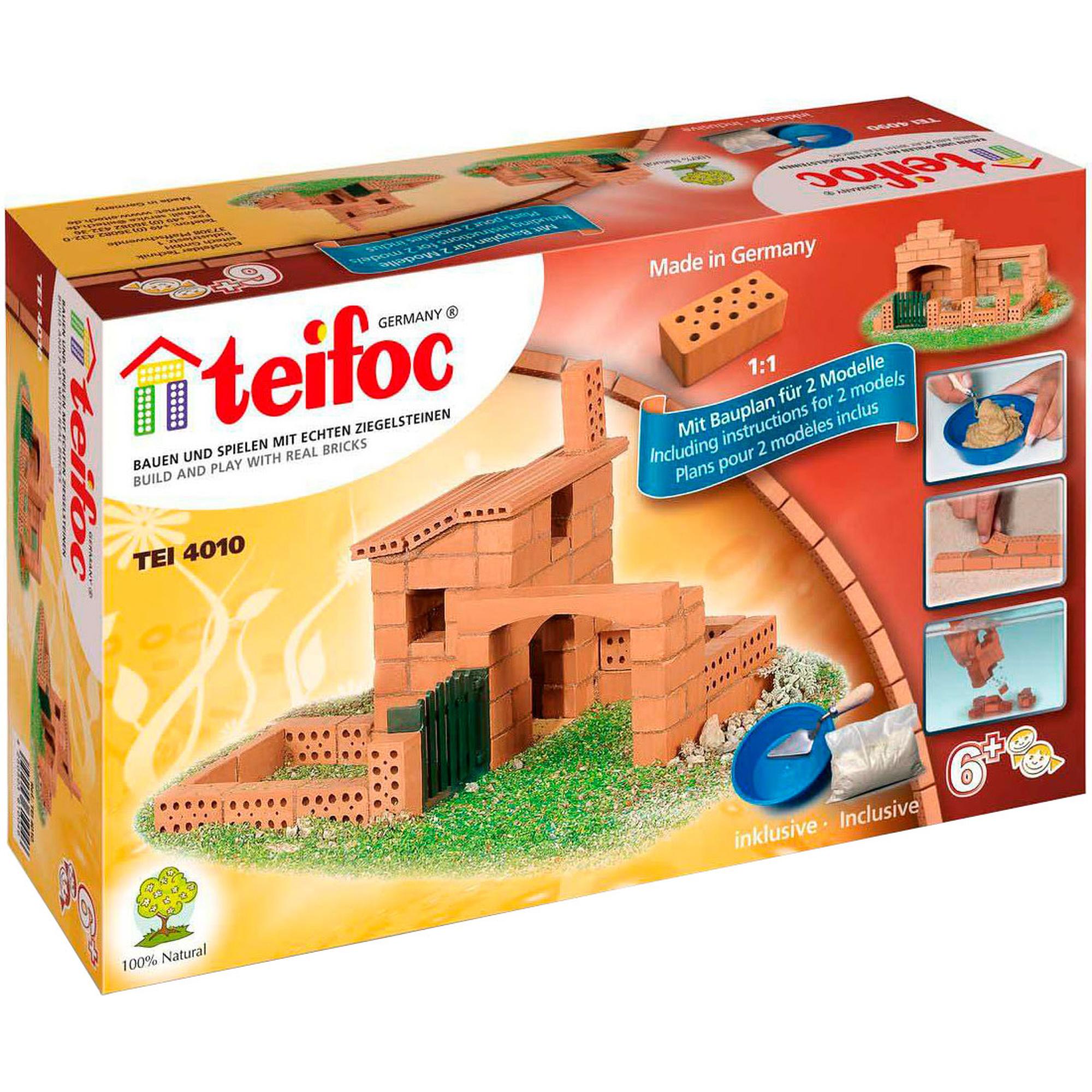 Купить Игровой набор TEIFOC Дом 2 модели TEI 4010, Германия, Глинянный кирпич, Наборы игровые