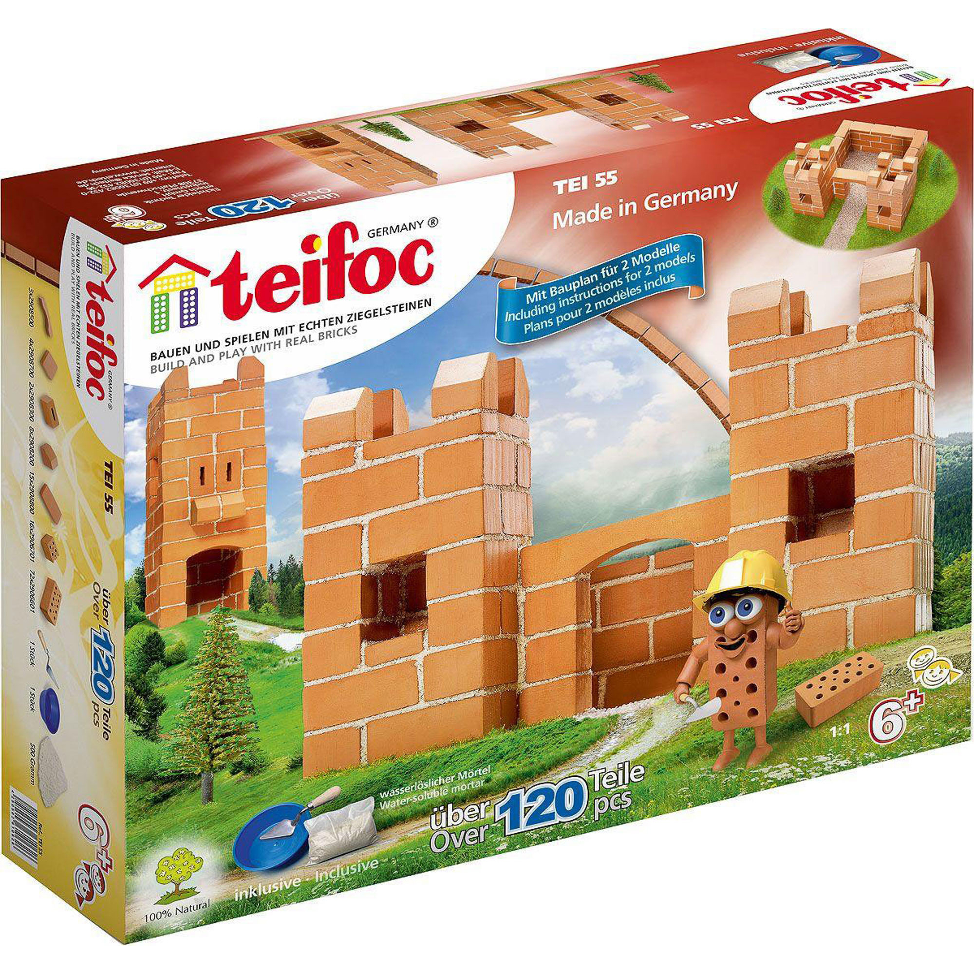 Купить Игровой набор TEIFOC Крепость 2 модели TEI 55, Германия, Глинянный кирпич, Наборы игровые
