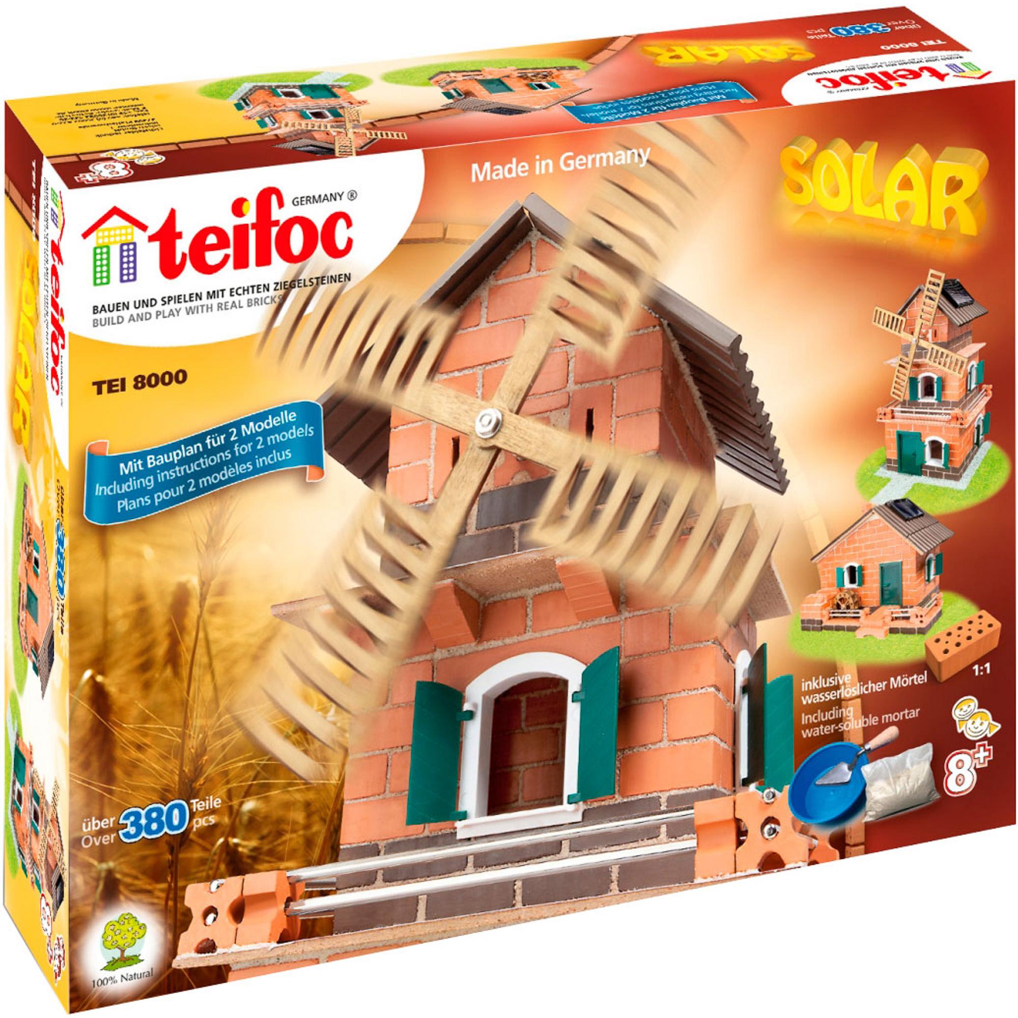 Фото - Игровой набор TEIFOC Серпантин TEI 8000 сборные модели teifoc дополнительный набор кирпичи смесь мастерок 280 деталей