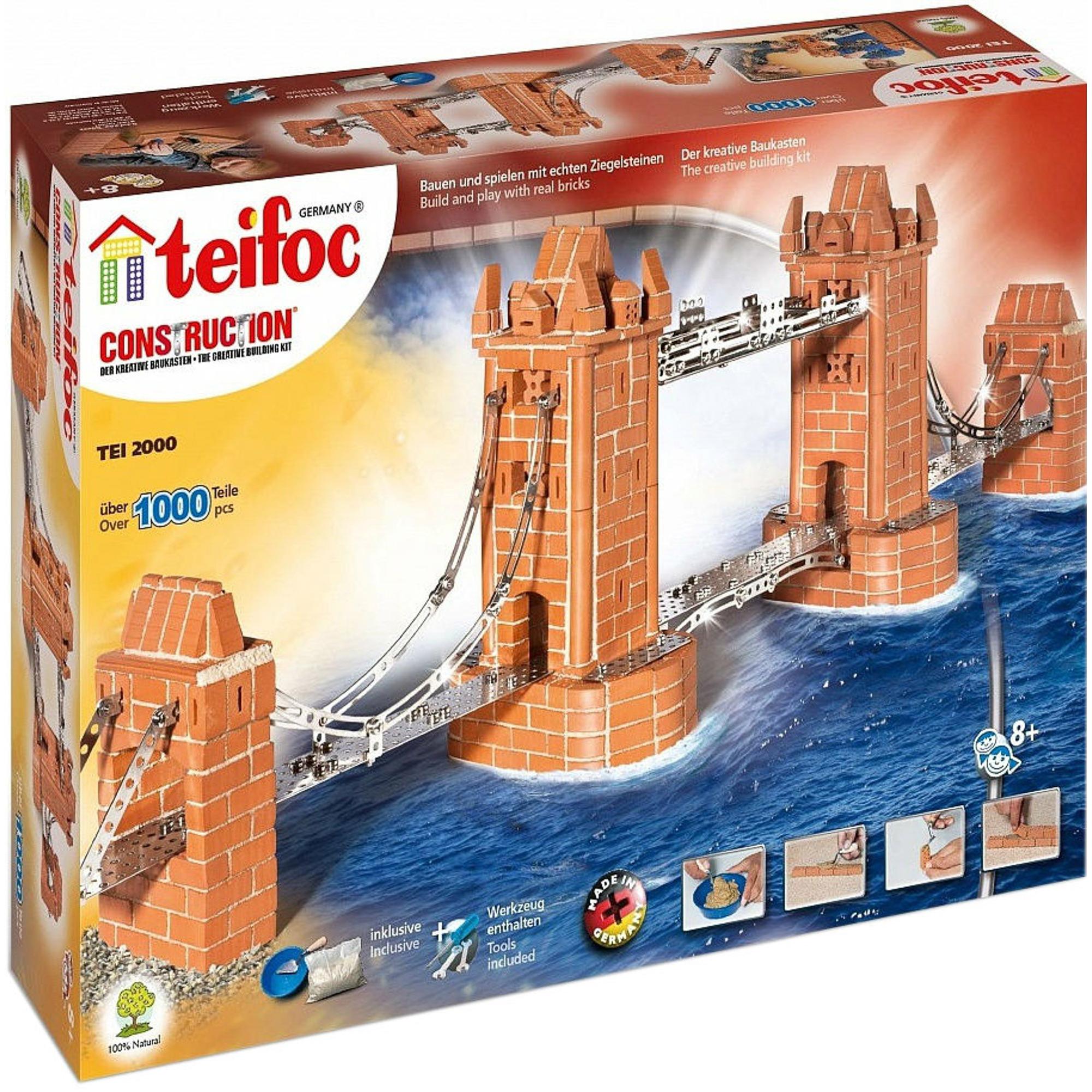 Фото - Игровой набор TEIFOC Башенный мост TEI 2000 сборные модели teifoc дополнительный набор кирпичи смесь мастерок 280 деталей