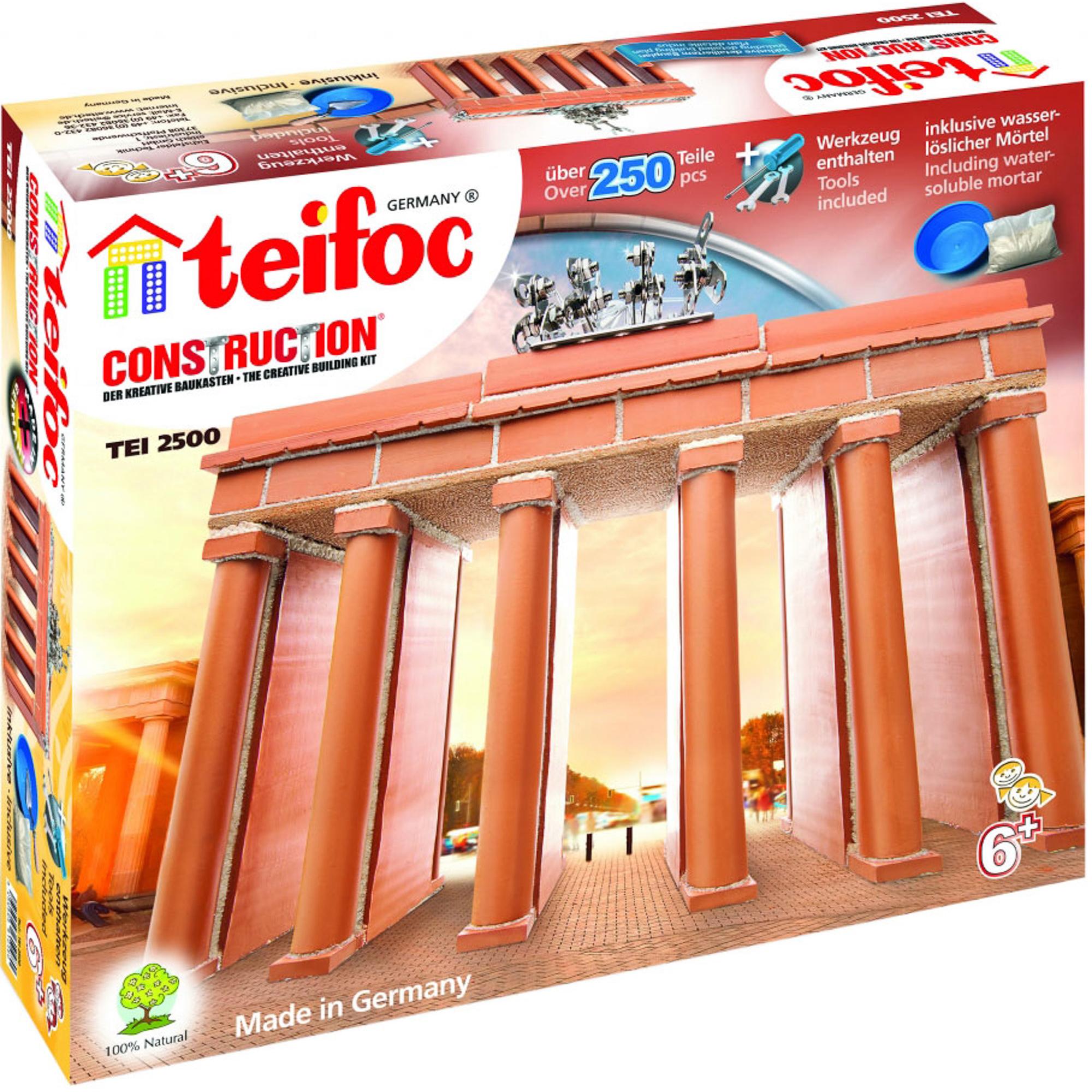 Фото - Игровой набор TEIFOC Бранденбургские ворота TEI 2500 сборные модели teifoc дополнительный набор кирпичи смесь мастерок 280 деталей