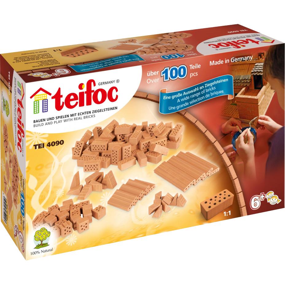 Купить Конструктор Teifoc Набор кирпичиков в ассортименте 100 дет, керамика, универсальный, Конструкторы, пазлы
