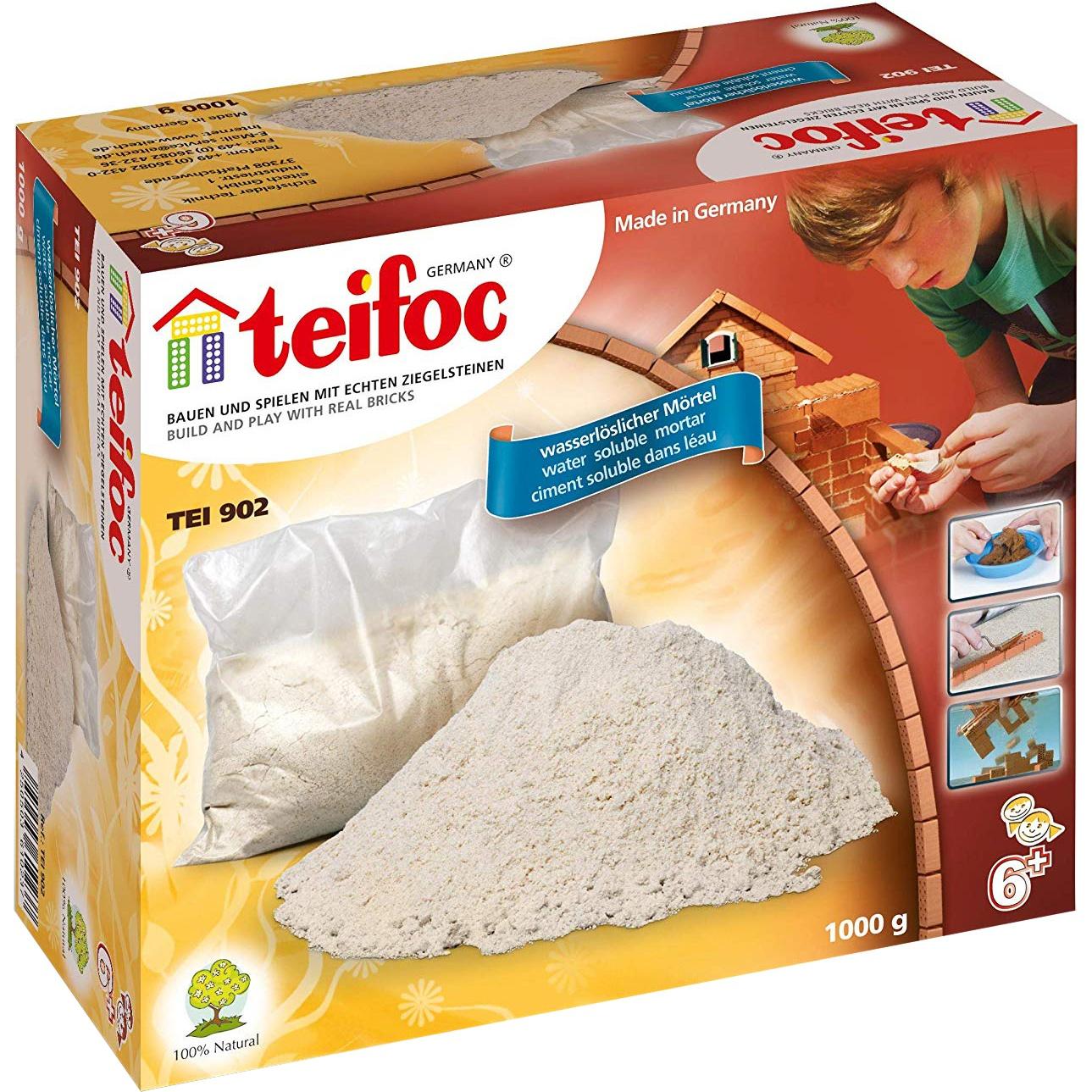 Фото - Набор Teifoc Строительная смесь 1 кг сборные модели teifoc дополнительный набор кирпичи смесь мастерок 280 деталей