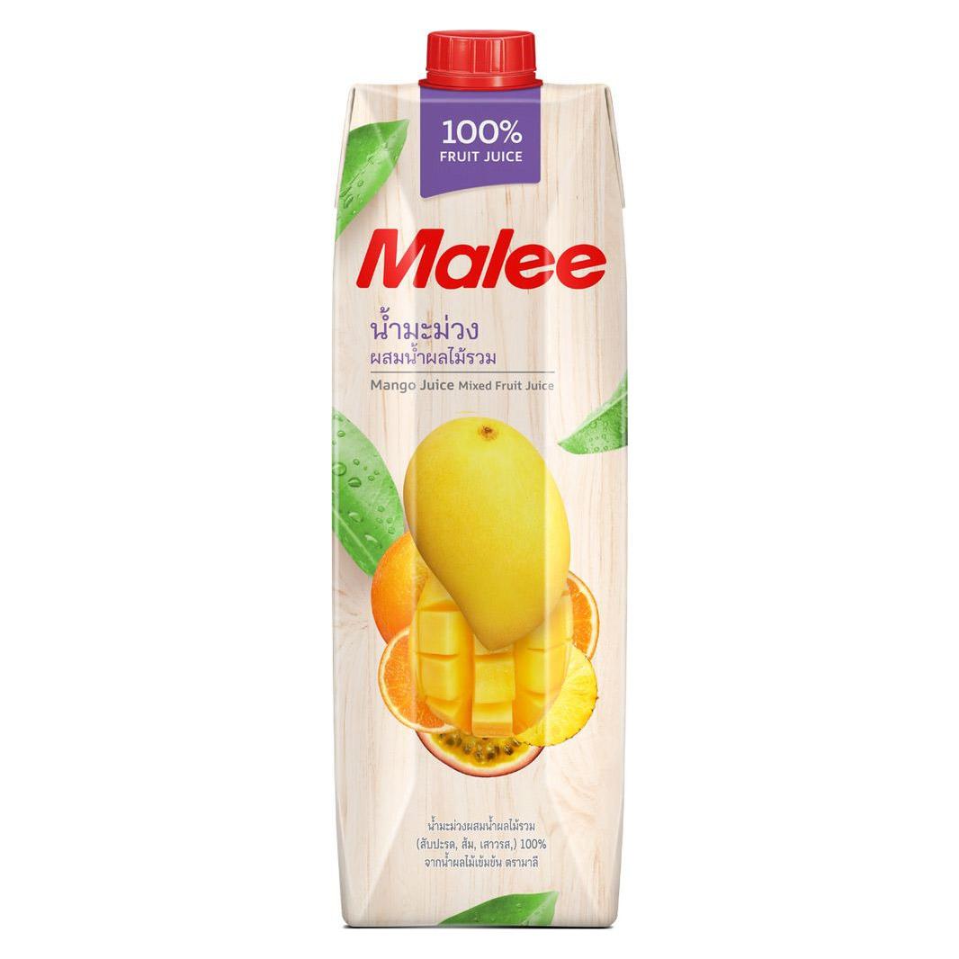 Cок Malee манго с добавлением фруктов 1 л malee сок личи 0 33 л