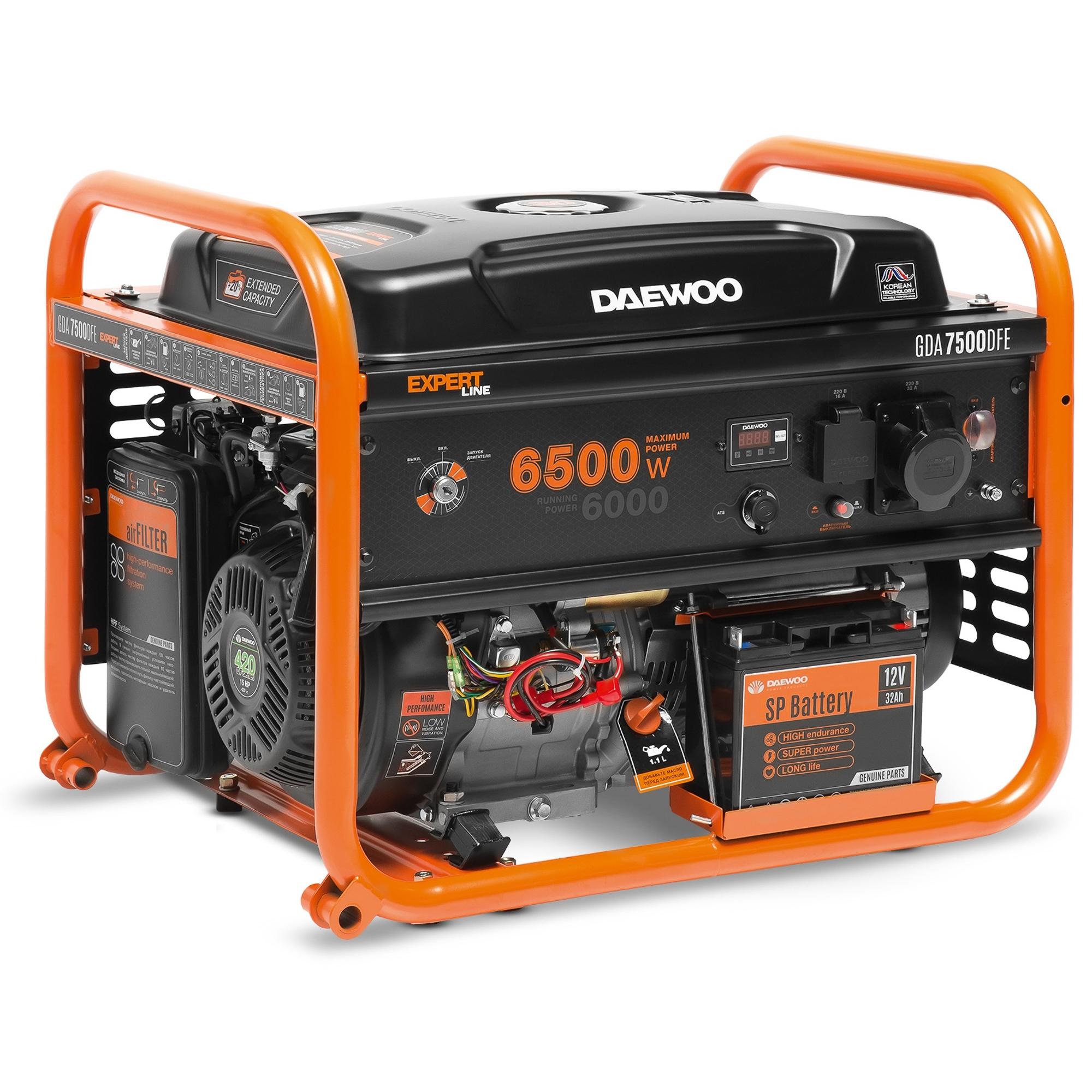 Генератор бензиновый + газовый DAEWOO GDA7500DFE