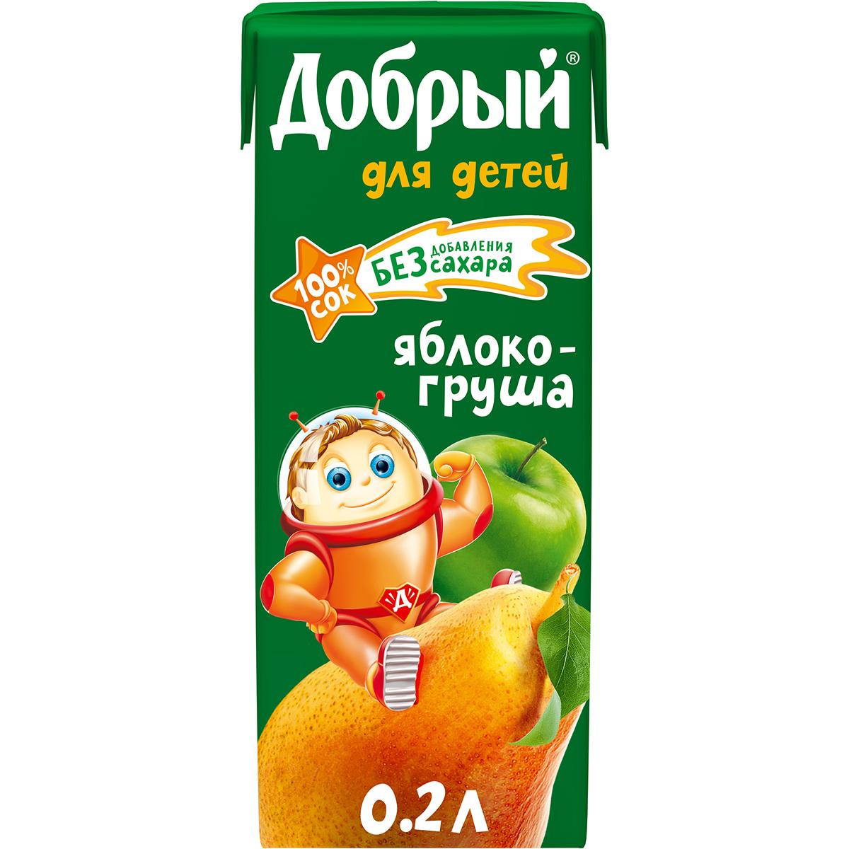 Сок Добрый из яблок и груш 200 мл
