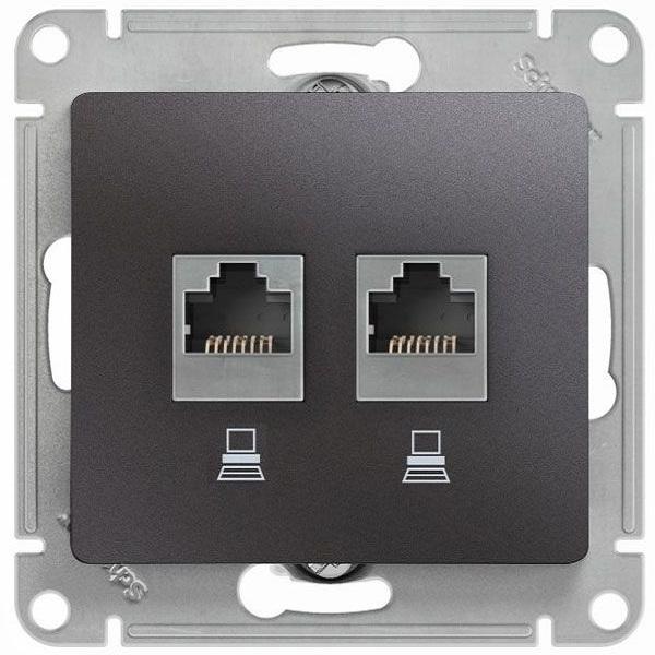 Розетка компьютерная Schneider Electric Glossa RJ45 +