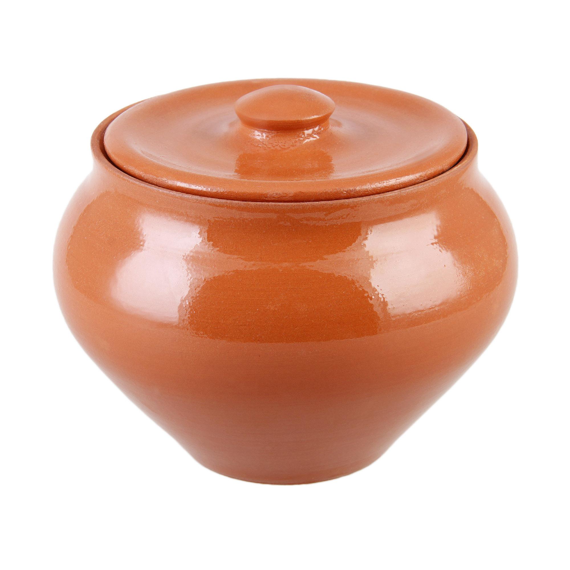 Фото - Горшок пищевой 0.9 л. Вятская керамика набор керамических горшков 3 предмета вятская керамика нбр вк 1 3