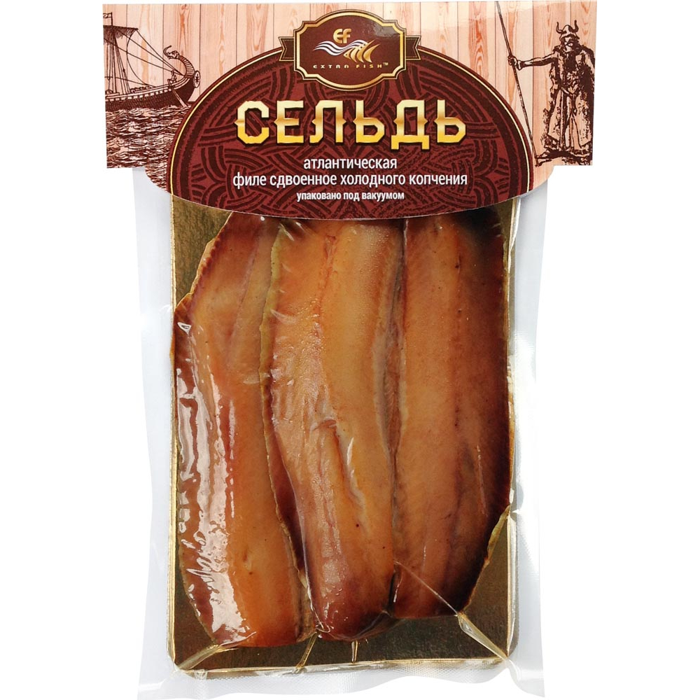 Фото - Сельдь Extra Fish Деликатесная холодного копчения, 200 г масляная рыба extra fish филе ломтики холодного копчения 100 г