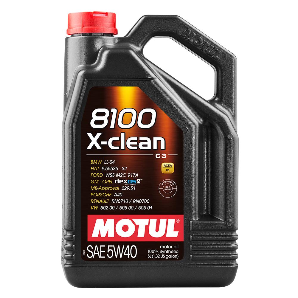 Масло моторное синтетическое motul 8100 x-clean 5w-40 (4л)