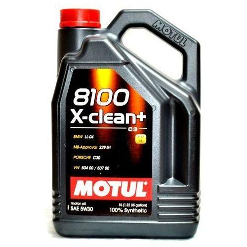 Купить со скидкой Масло моторное синтетическое motul 8100 x-clean+ 5w-30 (5л)
