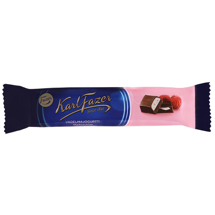 Батончик Fazer из молочного шоколада с начинкой из малинового йогурта 37 г