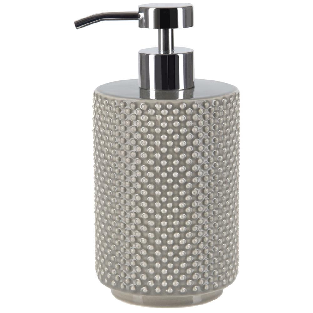 Купить Дозатор для жидкого мыла Spirella Mero, дозатор, Швейцария, серый, керамика