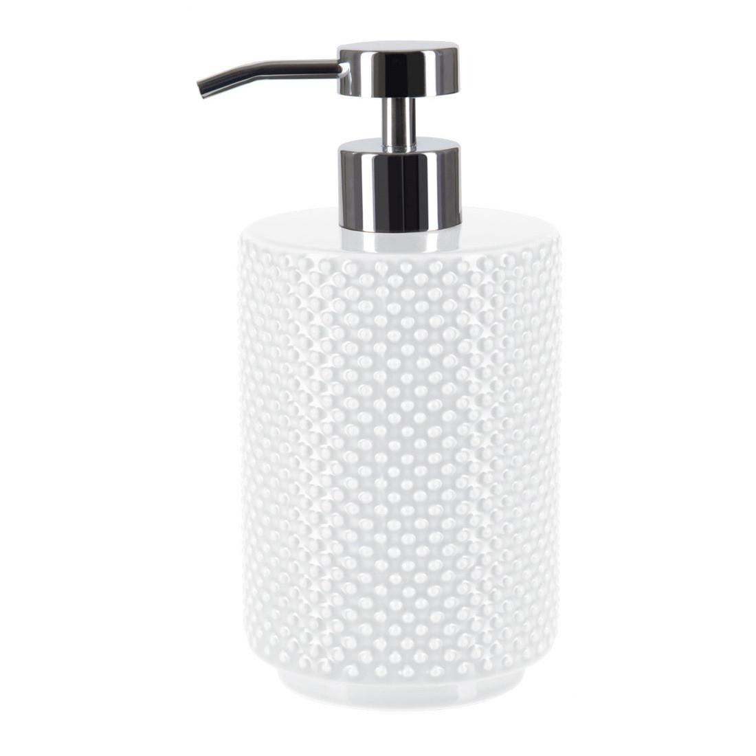 Фото - Дозатор для жидкого мыла Spirella Mero белый 8х16 см дозатор для жидкого мыла spirella sydney серый 7х18 5 см