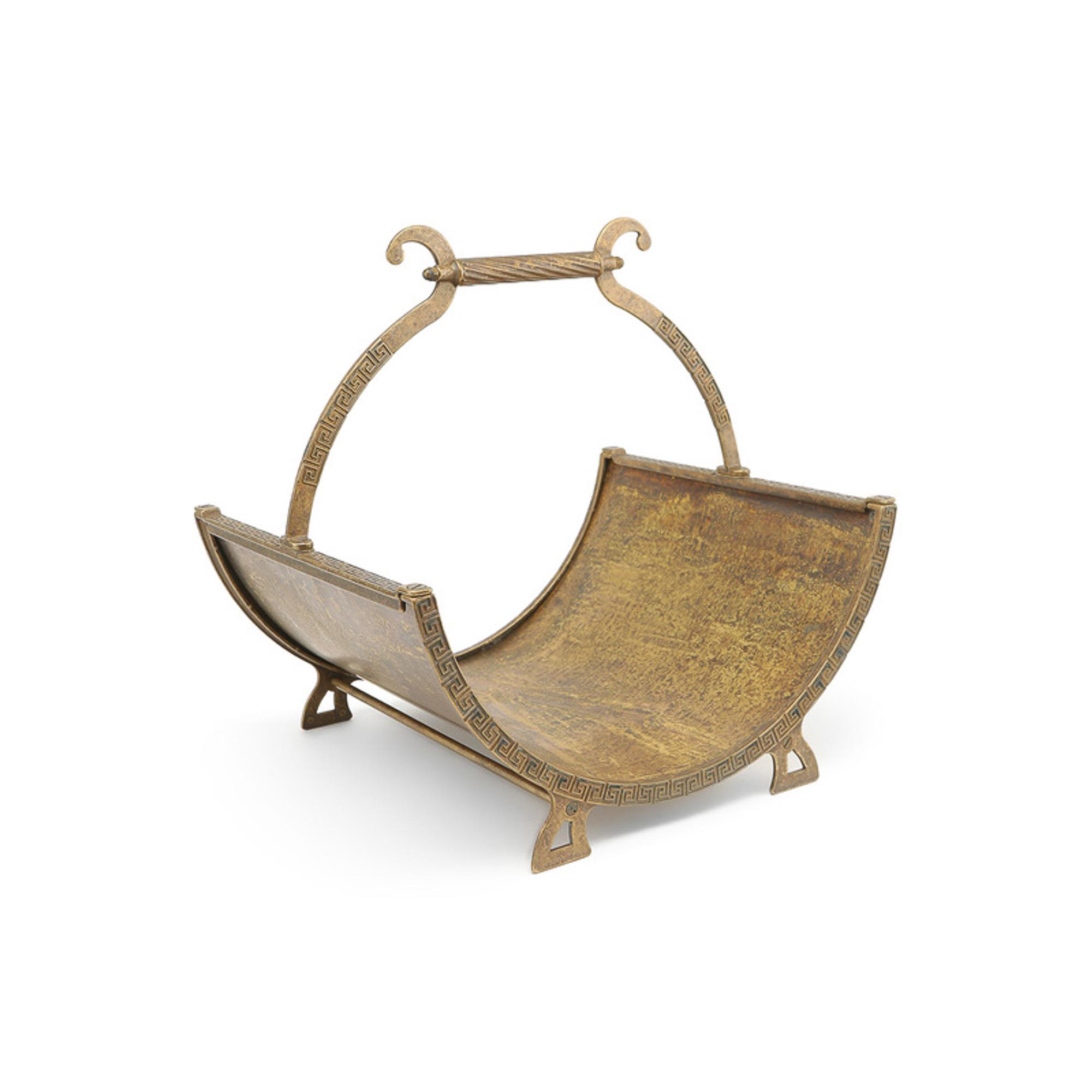 Купить Дровница Stilars Арабеска старая бронза 132066, Италия
