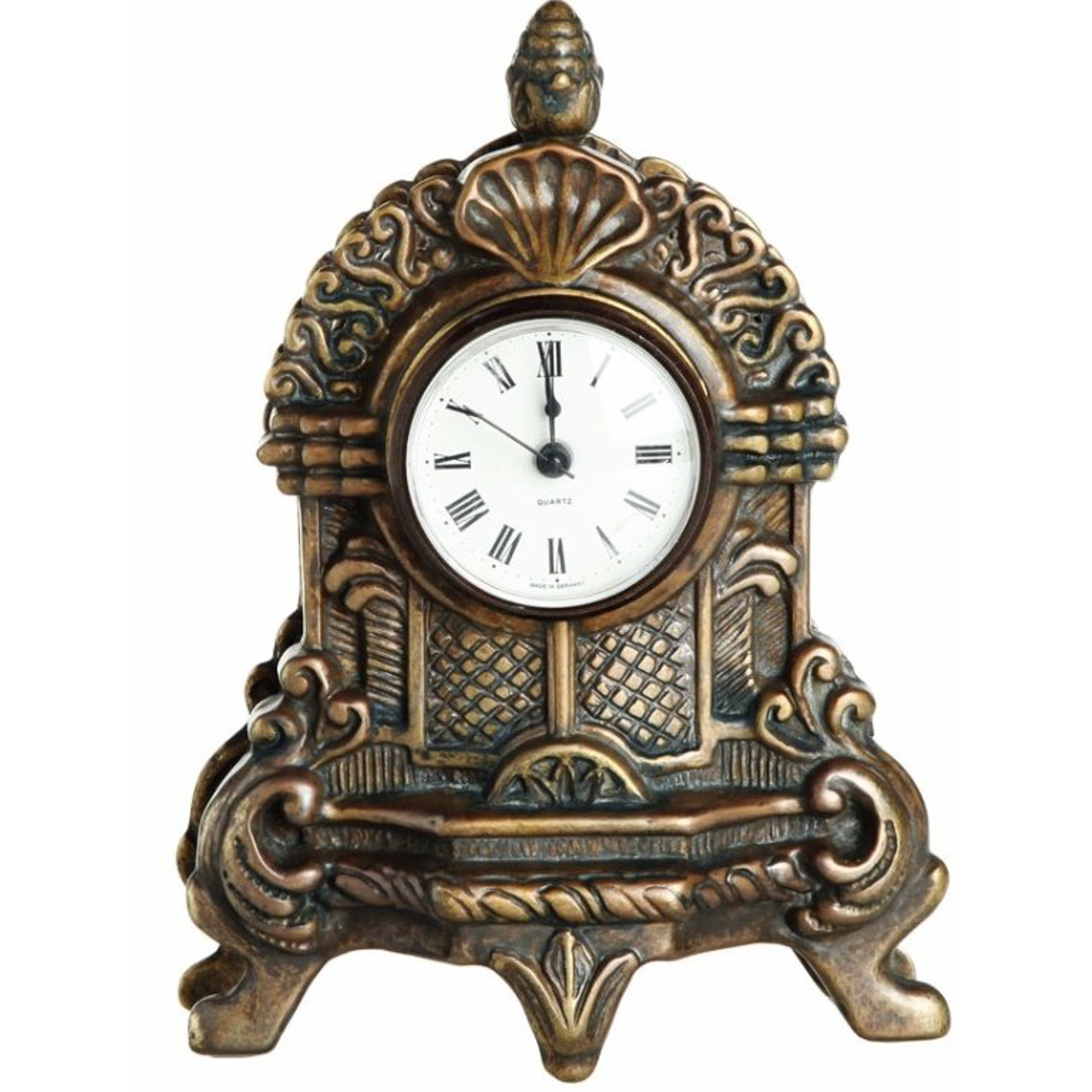 Купить Часы маленькие Stilars 16х21, 5 см 131271, Настольные, Италия, античная латунь