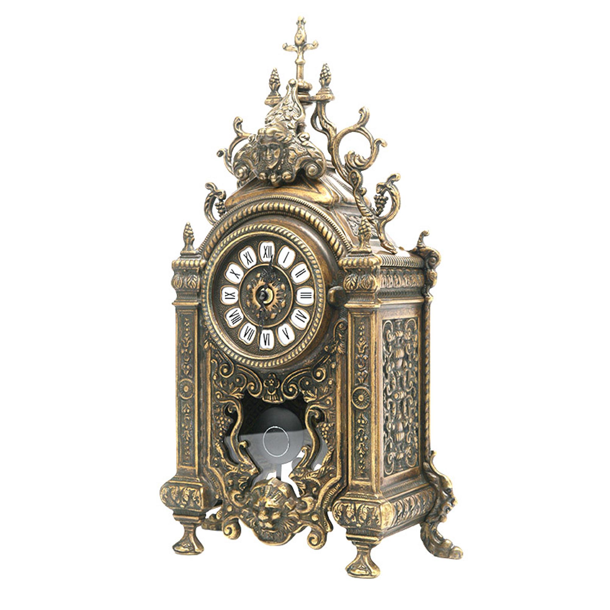 Купить Часы Stilars 26х45 см 131378, Настольные, Италия, бронза, латунь