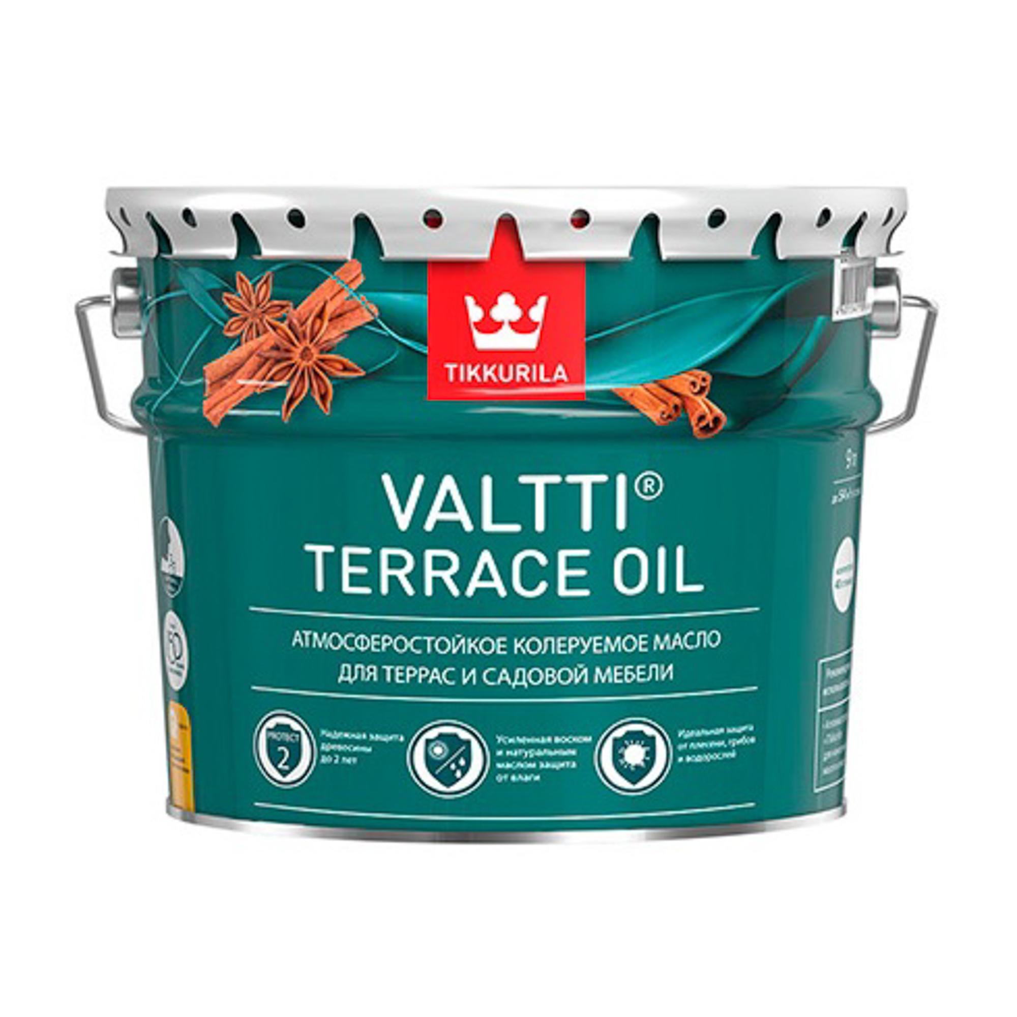 Масло tikkurila valtti terrace oil ec 9 л.