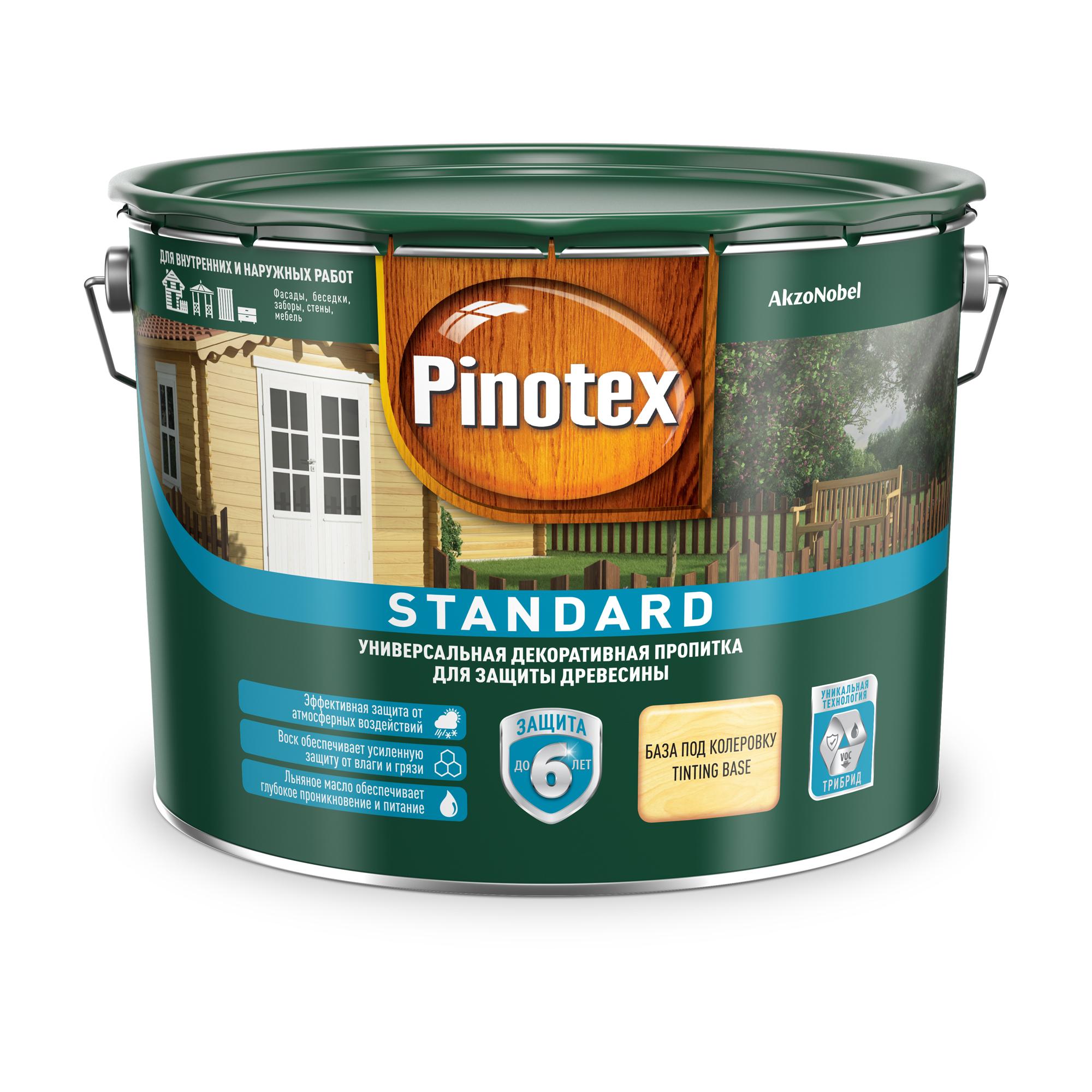 Пропитка Pinotex стандарт 9л база clr фото
