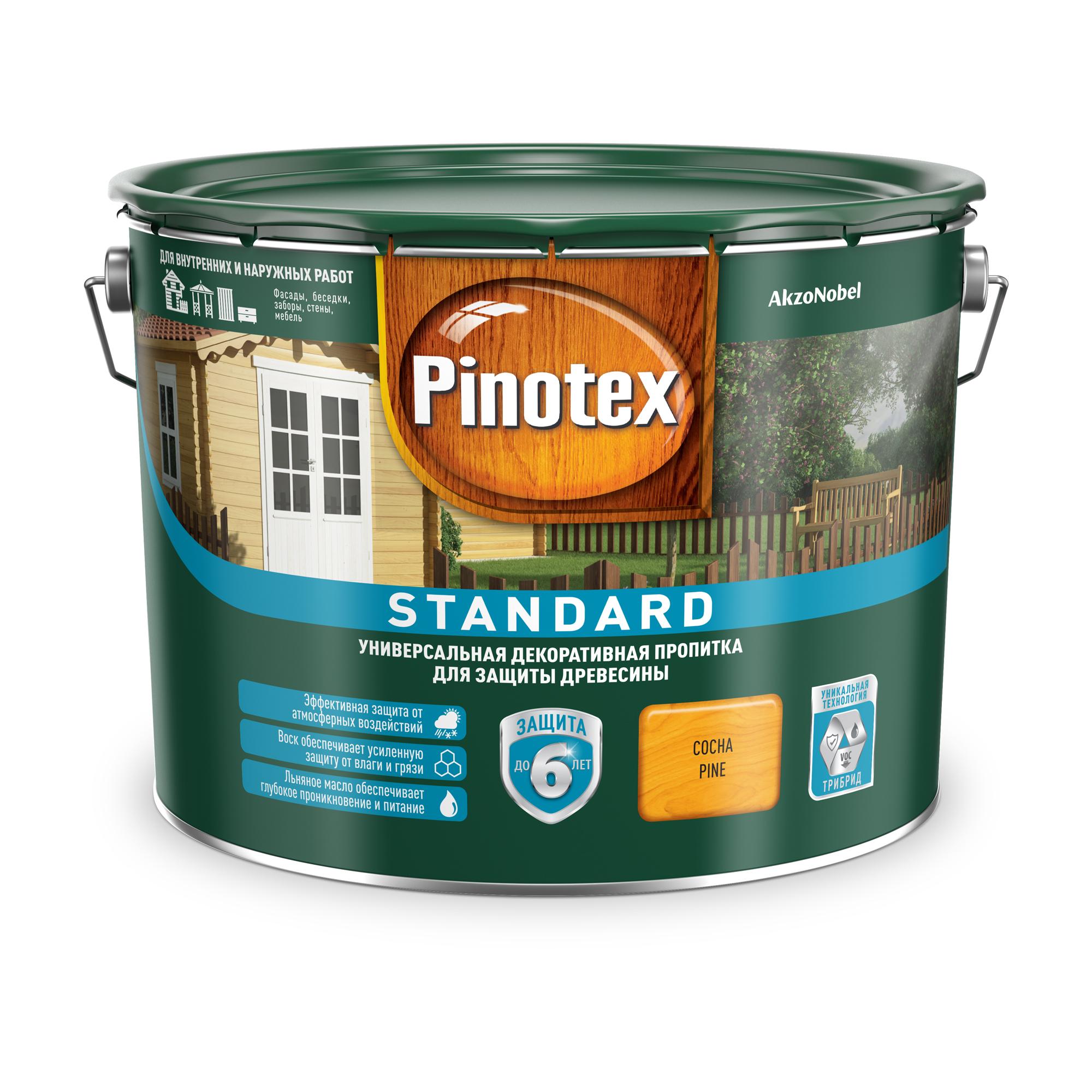 Пропитка Pinotex стандарт 9л сосна