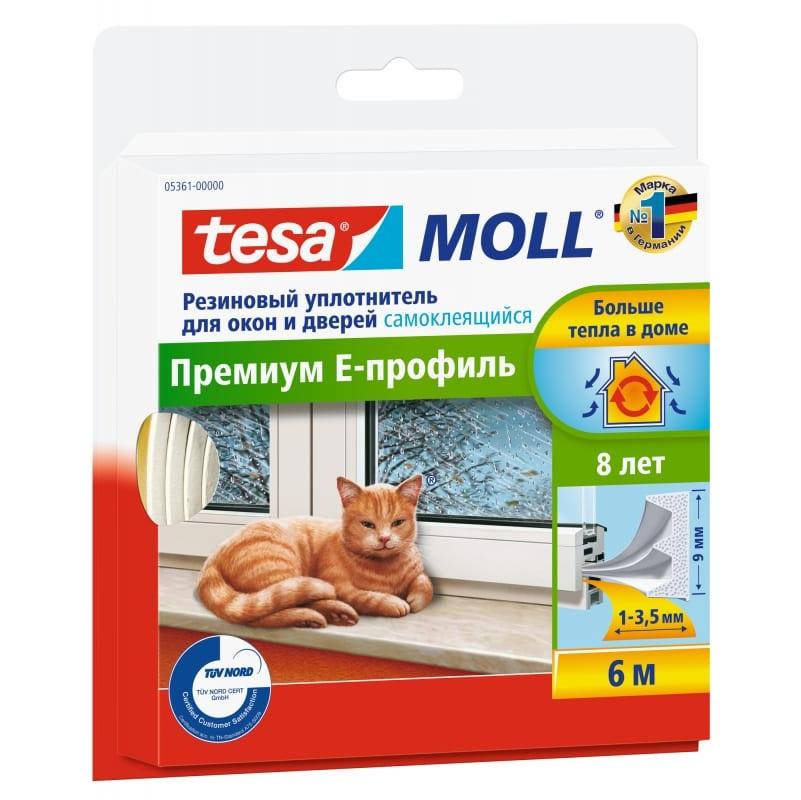 Уплотнитель резиновый е-проф белый 6м Tesa