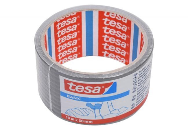 Лента тканевая серая 10:50 Tesa basic