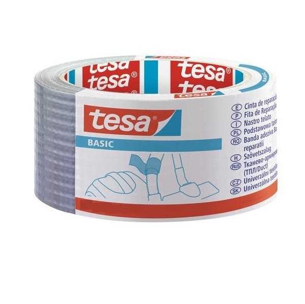 Лента тканевая серая 25:50 Tesa basic