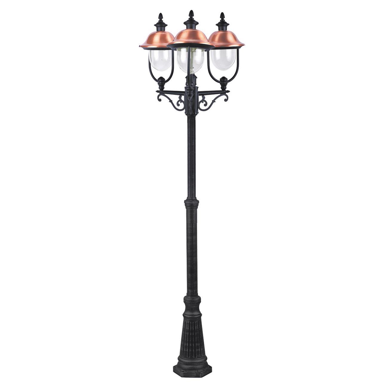 Садово-парковый светильник Arte Lamp Barcelona A1486PA-3BK фото