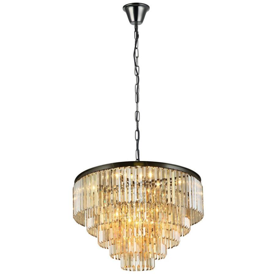 Светильник подвесной Divinare черный хром подвесной светильник astral agnes 12 ламп