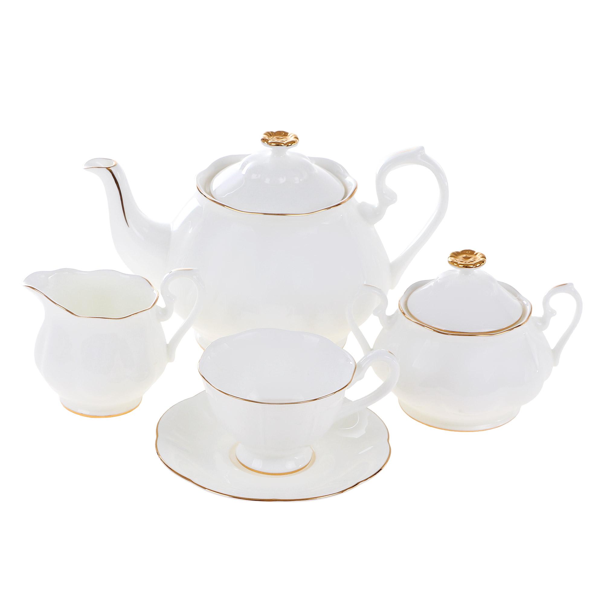 Сервиз чайный Топ арт студио блан-де-неж 15 предметов недорого