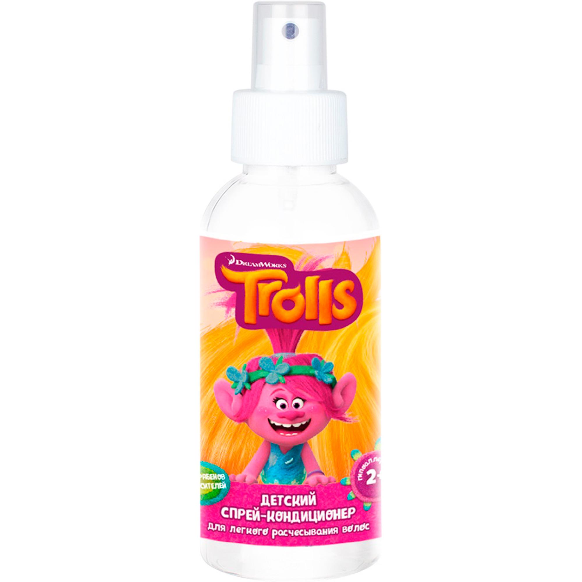 Купить Детский спрей-кондиционер Trolls Для легкого расчесывания волос 150 мл, Россия, для девочек, Средства по уходу за телом и за кожей лица для детей