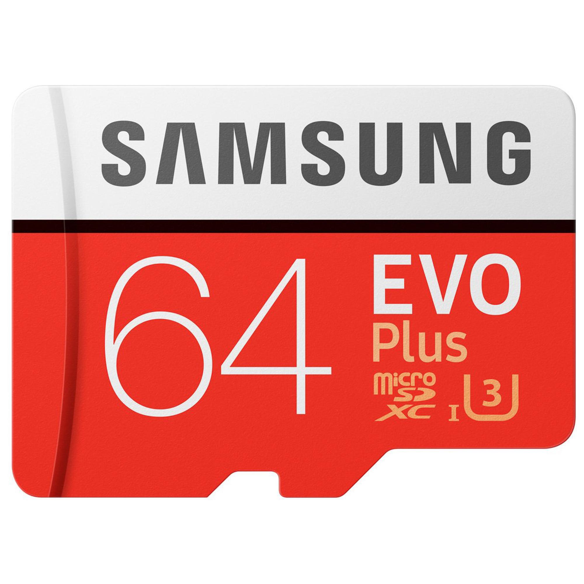Фото - Карта памяти Samsung EVO Plus MicroSDXC MB-MC64G карта памяти samsung microsdxc evo v2 128gb adapter mb mc128ga ru