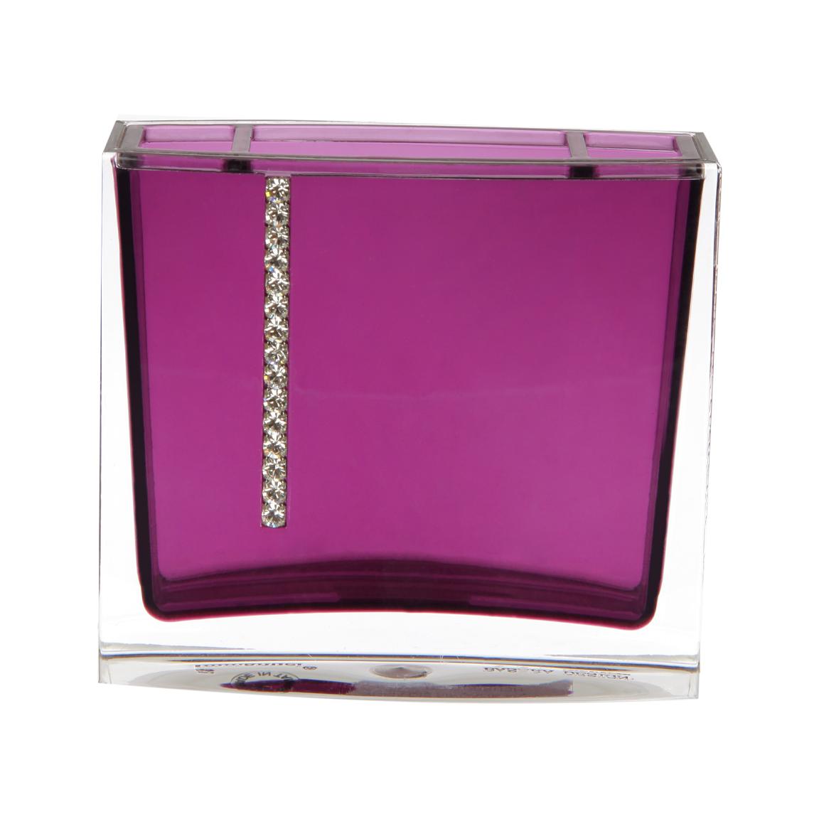 Фото - Стакан для зубных щёток фиолетовый PRIMANOVA roma стакан для зубных щёток primanova garden