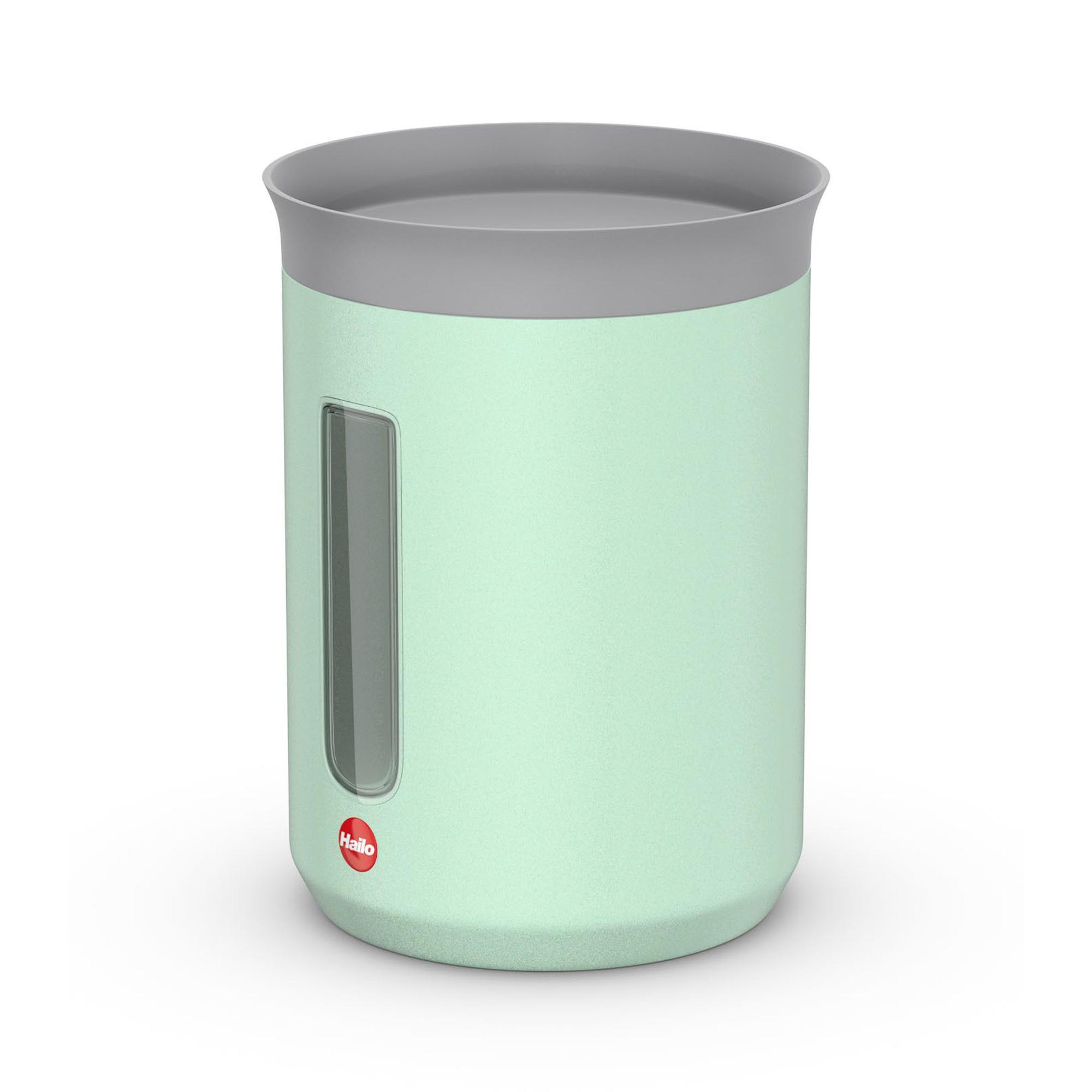 Контейнер металлический для хранения сыпучих продуктов 0.8 л Hailo мятный матовый.