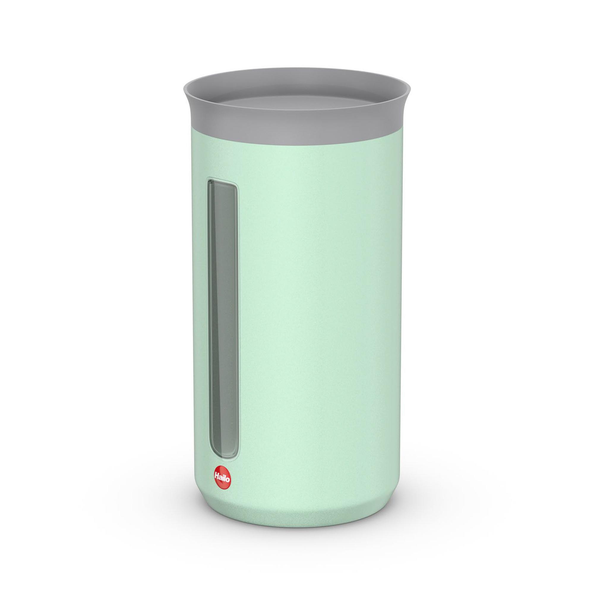 Контейнер металлический для хранения сыпучих продуктов 1.3 л Hailo мятный матовый.