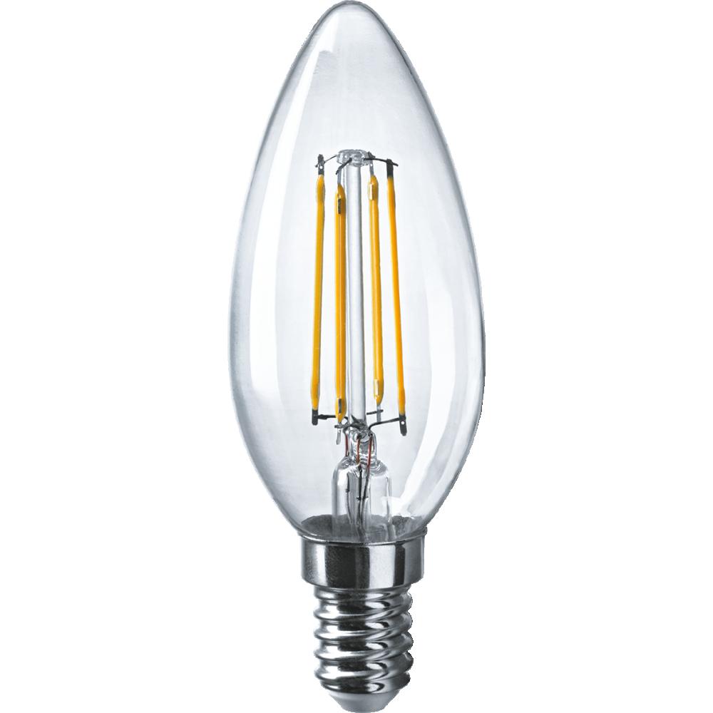 Лампа Navigator filament свеча 6вт e14 хол. фото