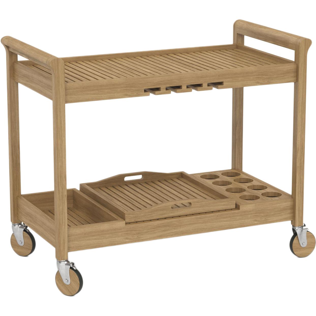 Купить Сервировочный стол 1000 х 600 х 1190 ироко - BR.12.35.088, Yachtline, столик сервировочный, Россия