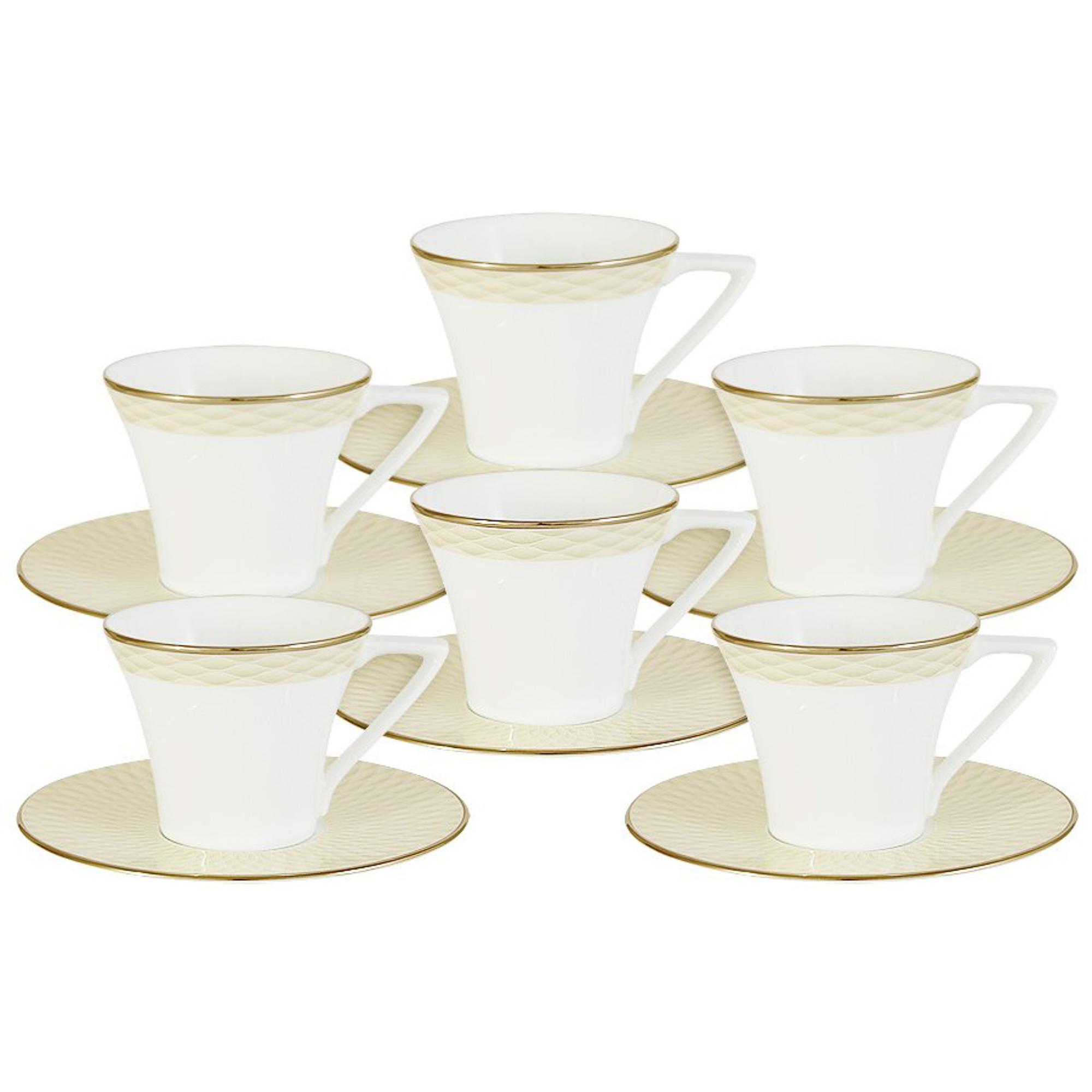 Набор кофейный Narumi Бриз голд 12 предметов 6 персон